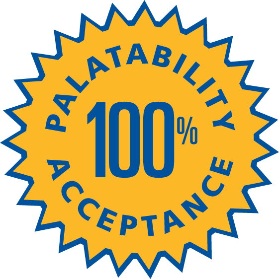 100% Palatability Acceptance Seal